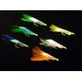 CAIVO SABIKI RIGS 6 HOOKS RAINBOW SHORT FEATHERW/ Flash Skin  446