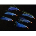 CAIVO SABIKI RIGS 6 HOOKS BLUE LONG FEATHER 455